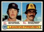 1979 Topps #8  1978 Leading Firemen    -  Rollie Fingers / Goose Gossage Front Thumbnail