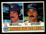 1979 Topps #7  ERA Leaders    -  Ron Guidry / Craig Swan Front Thumbnail