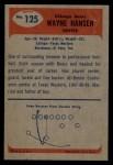 1955 Bowman #125  Wayne Hansen  Back Thumbnail