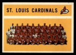 1960 #112   Cardinals Team Checklist Front Thumbnail