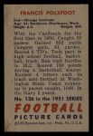 1951 Bowman #136   Francis Polsfoot Back Thumbnail