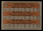 1972 Topps #198   Dodgers Rookie Stars    -  Charlie Hough / Bob O'Brien / Mike Strahler Back Thumbnail