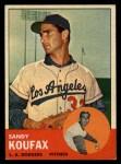 1963 Topps #210   Sandy Koufax Front Thumbnail