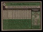 1979 Topps #379   Dale Murray Back Thumbnail