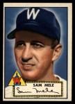 1952 Topps #94   Sam Mele Front Thumbnail