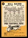 1967 Topps #89  Bill Baird  Back Thumbnail