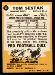 1967 Topps #27  Tom Sestak  Back Thumbnail