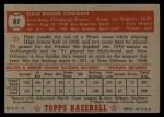 1952 Topps #87  Dale Coogan  Back Thumbnail