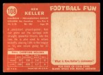 1958 Topps #108  Ken Keller  Back Thumbnail