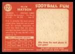 1958 Topps #127  Ollie Matson  Back Thumbnail