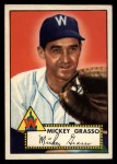 1952 Topps #90   Mickey Grasso Front Thumbnail