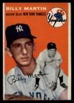 1954 Topps #13   Billy Martin Front Thumbnail