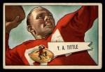 1952 Bowman Large #17  Y.A. Tittle  Front Thumbnail