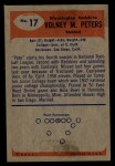 1955 Bowman #17   Volney Peters Back Thumbnail