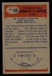 1955 Bowman #63   Ken Snyder Back Thumbnail