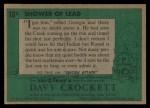 1956 Topps Davy Crockett #18 GRN Shower of Lead   Back Thumbnail