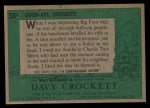 1956 Topps Davy Crockett #38 GRN Good-Bye  Back Thumbnail