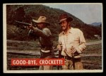1956 Topps Davy Crockett #38 GRN Good-Bye  Front Thumbnail