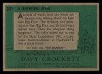 1956 Topps Davy Crockett #39 GRN  A Surprising Offer  Back Thumbnail
