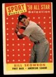 1958 Topps #477  All-Star  -  Bill Skowron Front Thumbnail