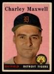 1958 Topps #380   Charley Maxwell Front Thumbnail