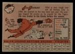 1958 Topps #136   Jim Finigan Back Thumbnail