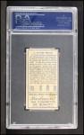 1911 T205 #137   Clyde Milan Back Thumbnail