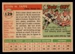 1955 Topps #129  Elvin Tappe  Back Thumbnail