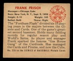 1950 Bowman #229  Frankie Frisch   Back Thumbnail