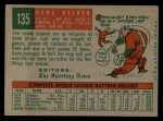 1959 Topps #135  Rookies  -  Gene Oliver Back Thumbnail