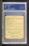 1938 Goudey Heads Up #274   Joe DiMaggio Back Thumbnail
