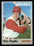 1970 Topps #347   Russ Snyder Front Thumbnail