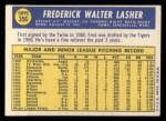 1970 Topps #356   Fred Lasher Back Thumbnail