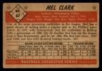 1953 Bowman #67  Mel Clark  Back Thumbnail