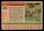 1955 Topps #121  Bill Renna  Back Thumbnail