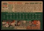1954 Topps #146   Don Johnson Back Thumbnail