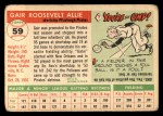 1955 Topps #59  Gair Allie  Back Thumbnail