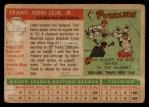 1955 Topps #99   Frank Leja Back Thumbnail