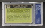 1961 Topps #579  All-Star  -  Willie Mays Back Thumbnail