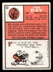 1966 Topps #22   Tom Day Back Thumbnail