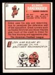 1966 Topps #31   Eldon Danenhauer Back Thumbnail