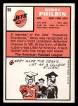 1966 Topps #98   Gerry Philbin Back Thumbnail