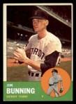 1963 Topps #365  Jim Bunning  Front Thumbnail