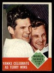 1963 Topps #148  1962 World Series - Game #7 Yanks Celebrate as Terry Wins - Ralph Terry  Front Thumbnail
