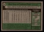 1979 Topps #680   Carlton Fisk Back Thumbnail