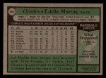 1979 Topps #640   Eddie Murray Back Thumbnail