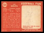 1958 Topps #104   Joe Krupa Back Thumbnail
