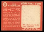 1958 Topps #59   Mike McCormack Back Thumbnail