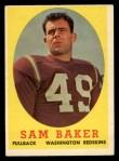 1958 Topps #34   Sam Baker Front Thumbnail