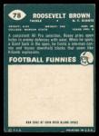 1960 Topps #78  Roosevelt Brown  Back Thumbnail